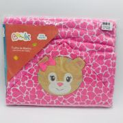 Toalha Capuz Bichinho Urso Rosa - Bambi Incomfral Ref 0013