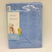 Toalha de Banho Com Capuz Para Bordar Azul - Baby Joy Incomfral Ref 10003