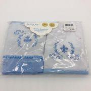 Toalha de Boca Com Prendedor Chupeta Azul - Baby Joy Incomfral Ref