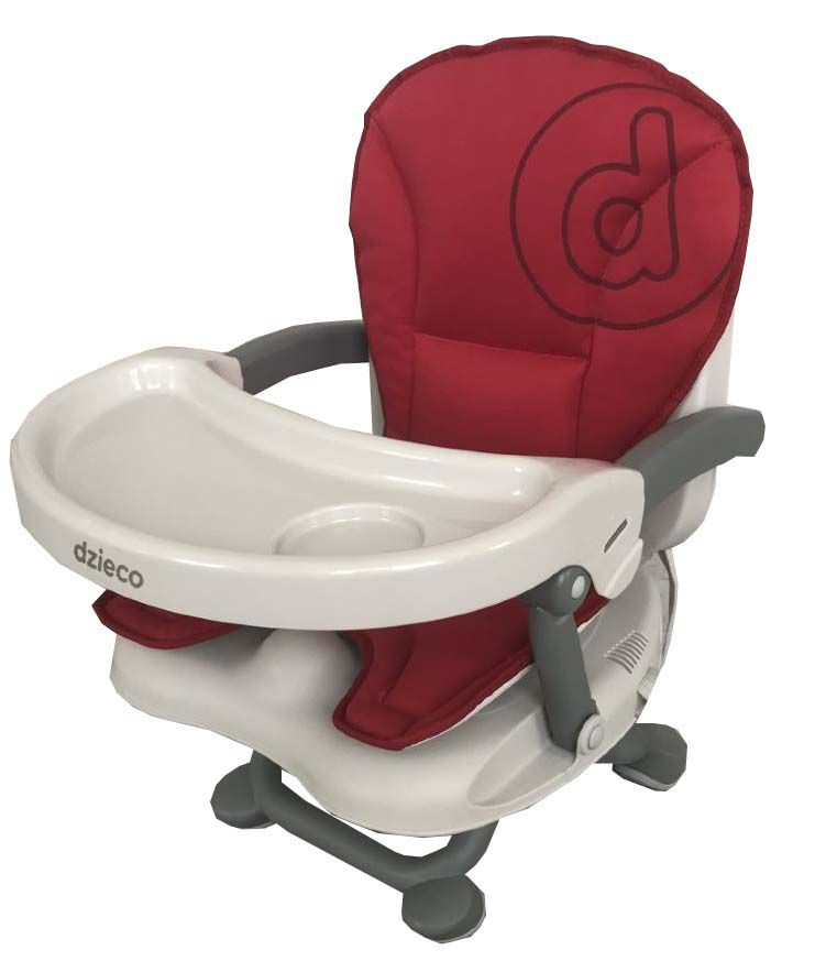 Assento Elevatório Zyce ii Cinza/vermelho - Dzieco Ref D505