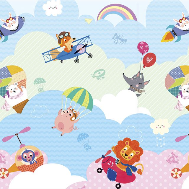 Tapete Baby Play Mat Médio I Love Sky 1,85x1,25 - Safety 1st