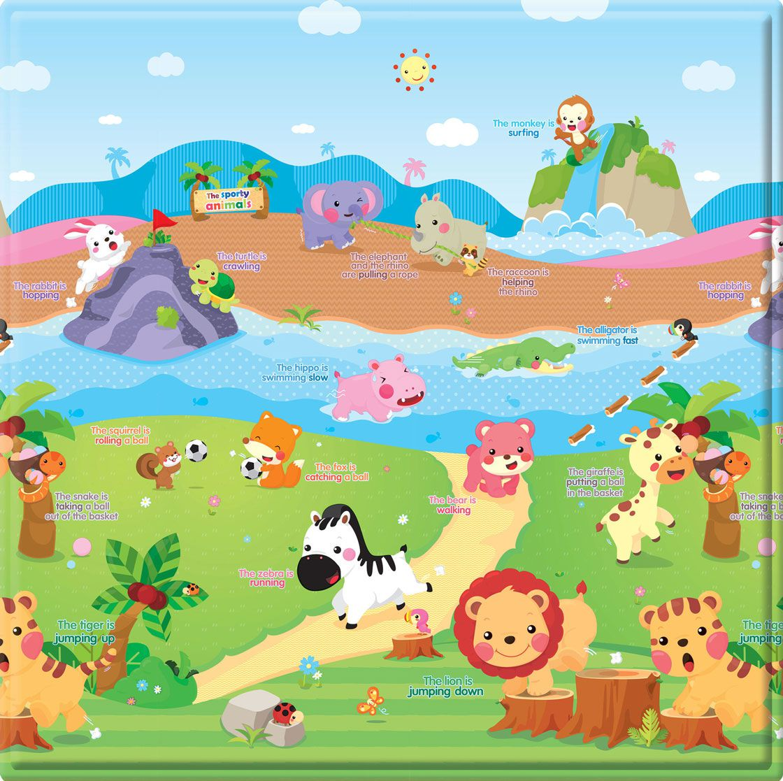 Baby Play Mat Peqthe Sports Animal 1,25x1,25 - Safety 1st