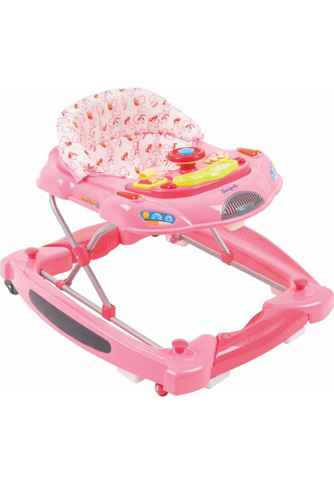Andador Baby Coupe Rosa - Burigotto Ref 3034