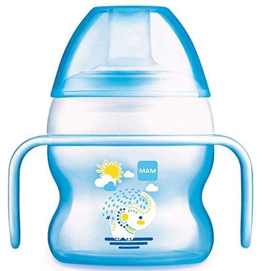 987315f54 Copo Starter Com Alças Antideslizante Elefante Azul - Mam Ref 4233 - Bebê  Casa