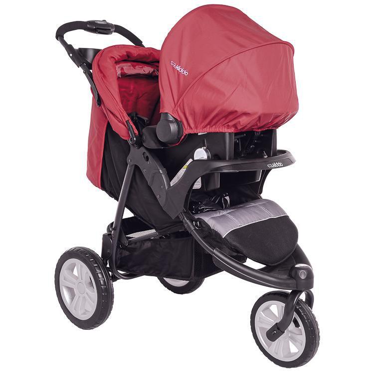 Carrinho Fox Cinza/vermelho - Kiddo Ref P52