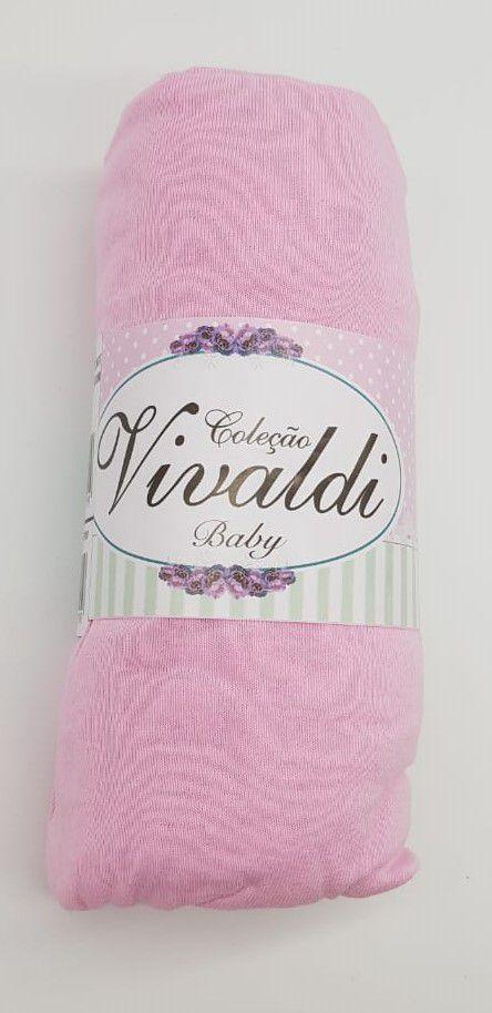 lençol liso c/ elástico p/ colchão padrão americano 100% algodão - Vivaldi Baby