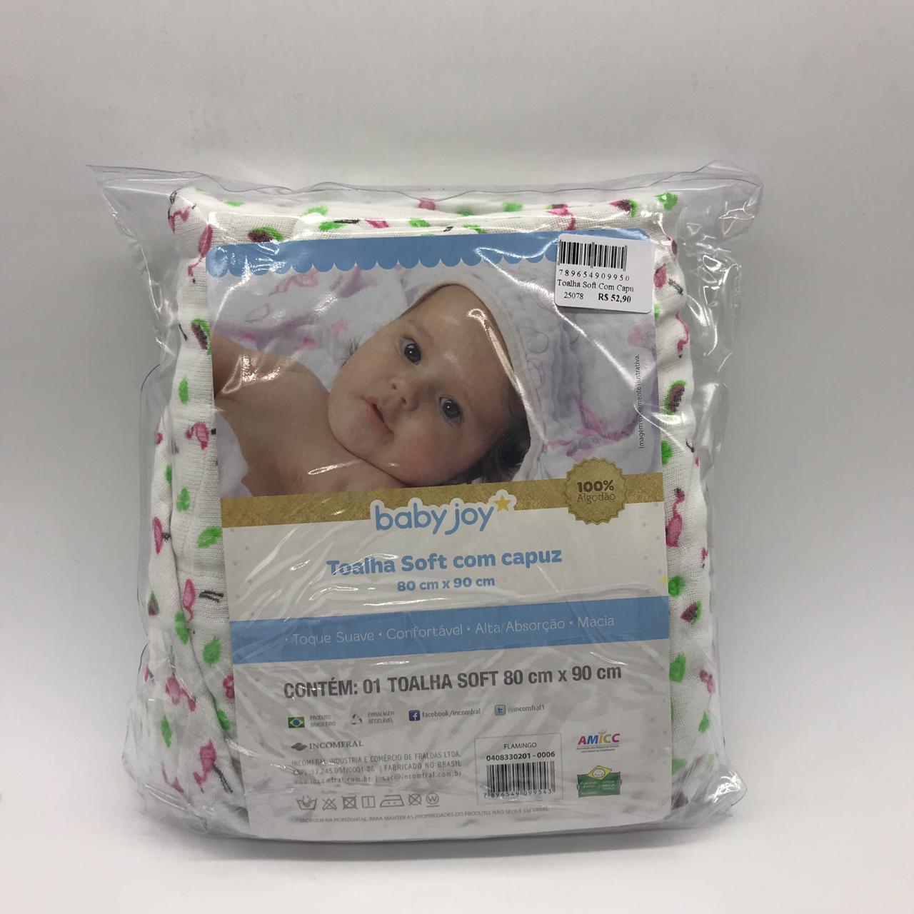 87538bf63 Toalha Soft Com Capuz Flamingo - Baby Joy Incomfral Ref 04083302010006 - Bebê  Casa ...