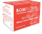BOM FLORAL CHÁ BEM ESTAR - INSPIRA TRANQUILIDADE E CONFORTO - 15 SACHES