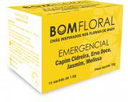 BOM FLORAL - CHÁ EMERGENCIAL  - AUXILIA NO EQUILÍBRIO EMOCIONAL - 15 SACHES
