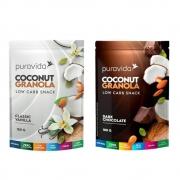 Combo 2 Granolas Low Carb Pura Vida - Vanilla e Dark Chocolate
