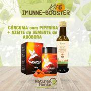 COMBO 6 - IMMUNE BOOSTER (Cúrcuma c Piperina + Azeite de Semente de Abóbora)
