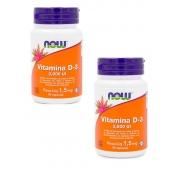 Vitamina D3 2000 IU NOW - 2 unidades de 30 cáps