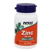 Zinco 50mg NOW - 100 Cáps - Suporte Imunológico