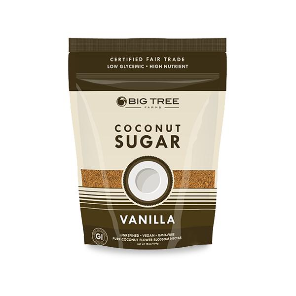 Açucar de Coco Vanilla Big Tree Farms - 397G