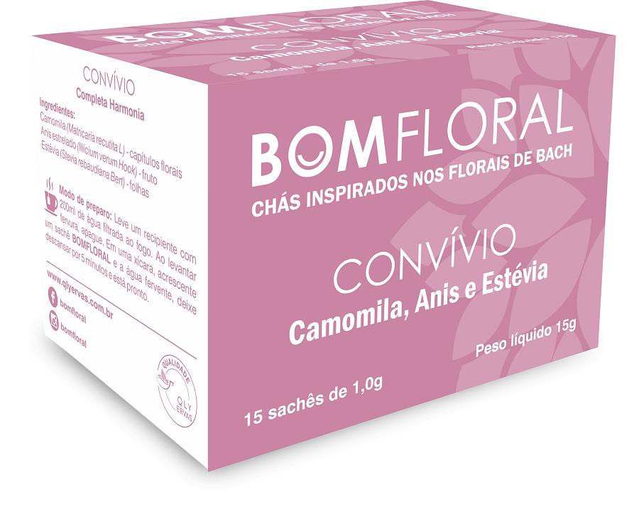BOM FLORAL - CHÁ CONVÍVIO - INSPIRA COMPLETA HARMONIA - 15 SACHES