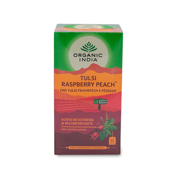 Chá Tulsi Framboesa e Pêssego Organic India