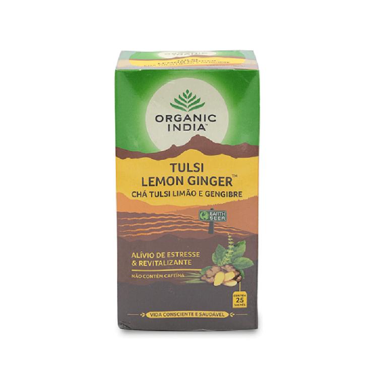 Chá Tulsi Limao e Gengibre Organic India