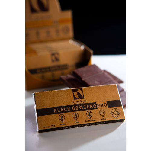Chocolate artesanal Black 60%  Zero Açucar com Colágeno