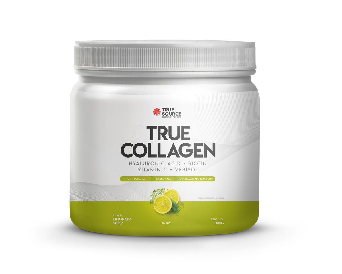 Colágeno hidrolisado Verisol + Vit C + silício orgânico + ácido hialurônico + zinco + biotina  390G