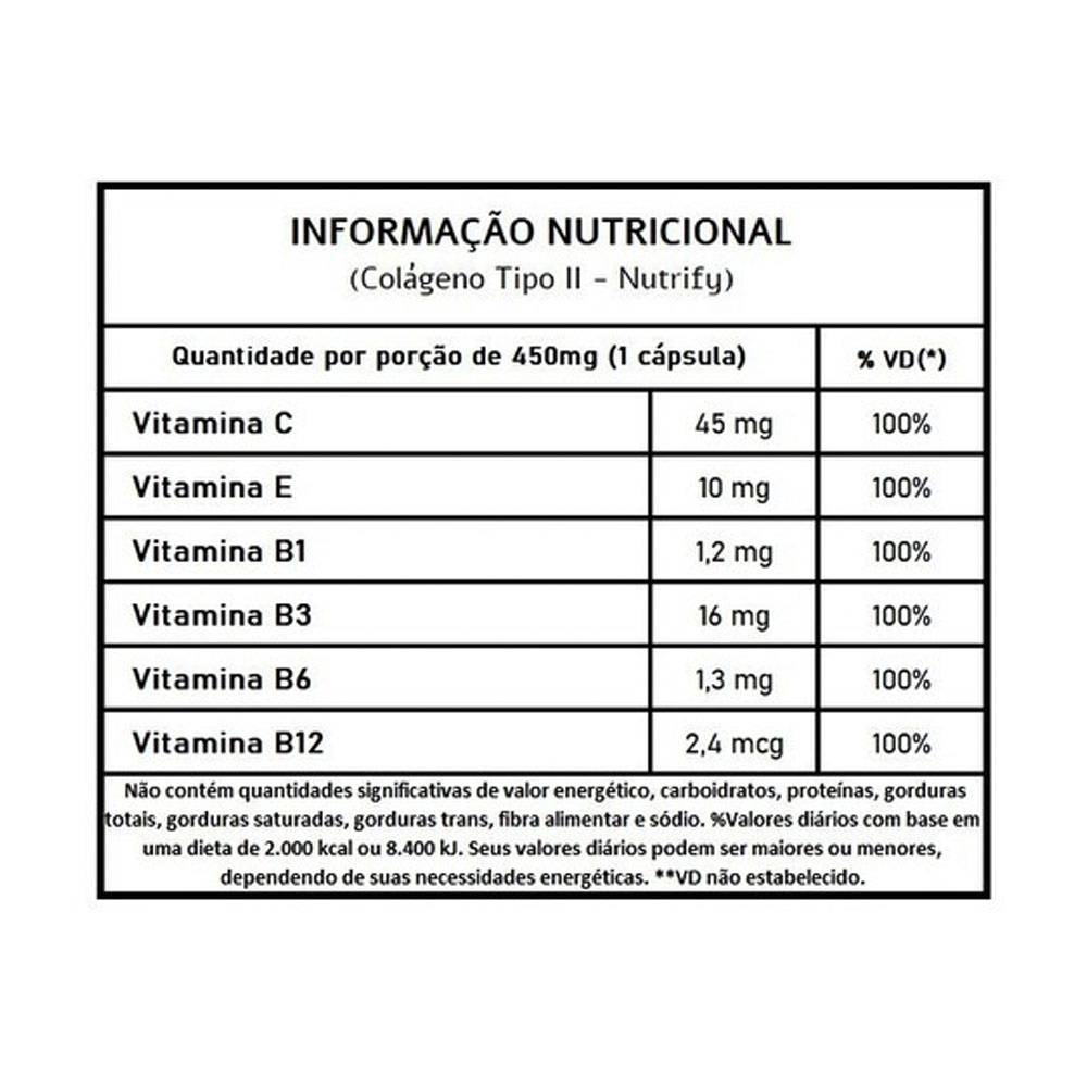 COLÁGENO TIPO NUTRIFY II 60CAPS