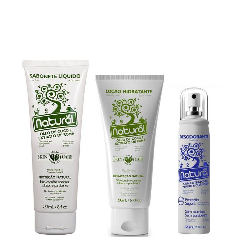 Combo Saúde e Beleza Sabonete + Hidratante + Desodorante