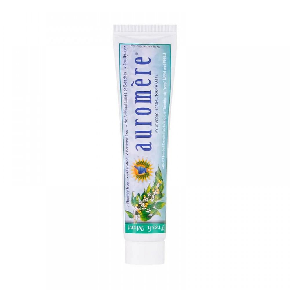 Creme Dental Auromère Fresh Mint - Ayurveda, 23 extratos de ervas e óleos essenciais
