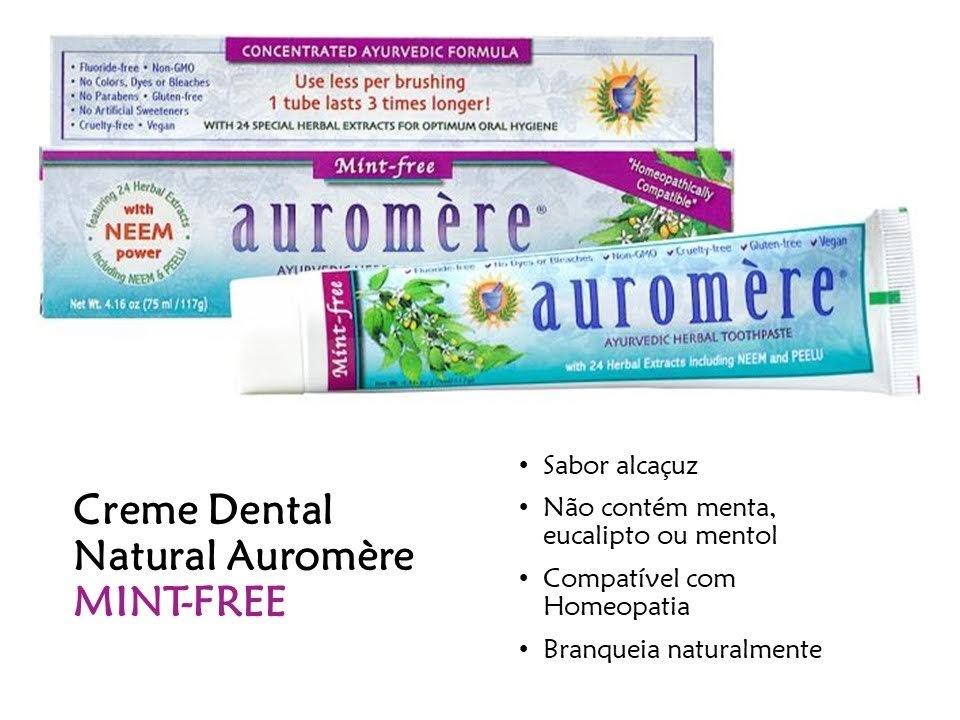 Creme Dental Ayurveda - sabor alcaçuz - MINT FREE - 117g
