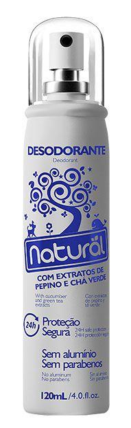 Desodorante Natural extratos Pepino e Chá verde