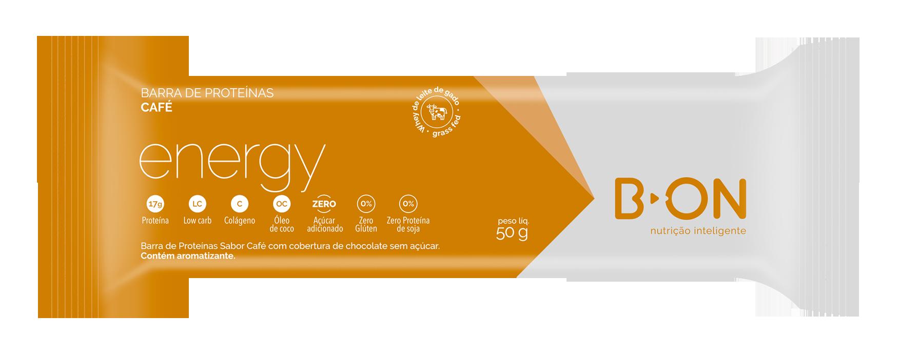 Barra Proteíca ENERGY 3 CAFÉS + CÚRCUMA  50g