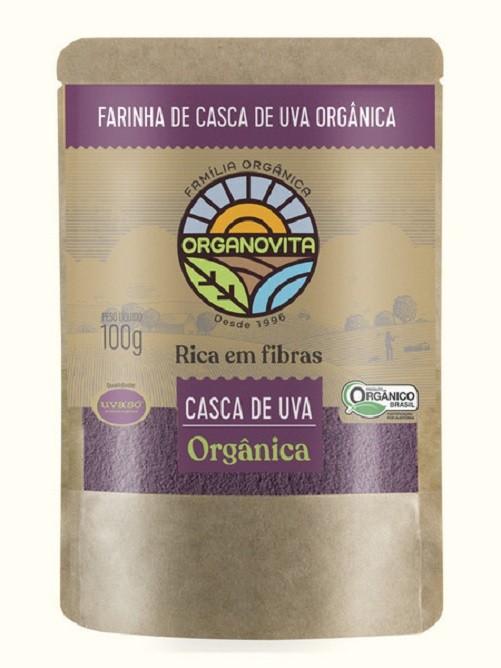 FARINHA DE CASCA UVA ORGÂNICA - ORGANOVITA - 100G
