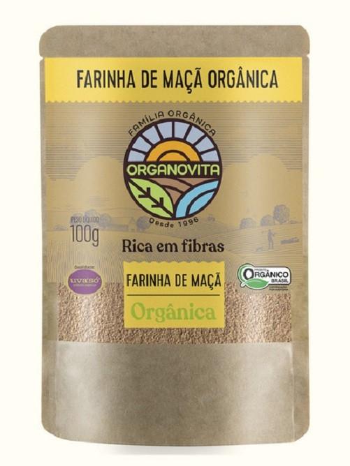 FARINHA DE MAÇÃ - ORGÂNICA ORGANOVITA - 100G