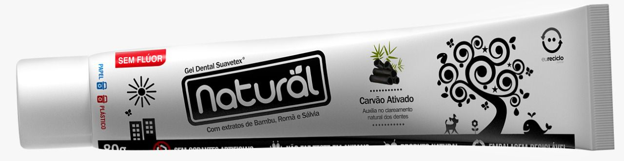 GEL DENTAL NATURAL CARVÃO ATIVADO
