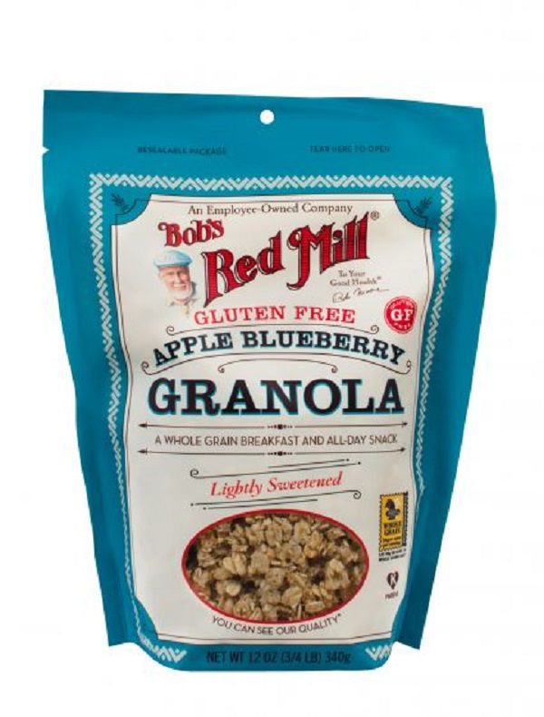 Granola Bobs Red Mill Sem Gluten de Maçã e Mirtilo 340g