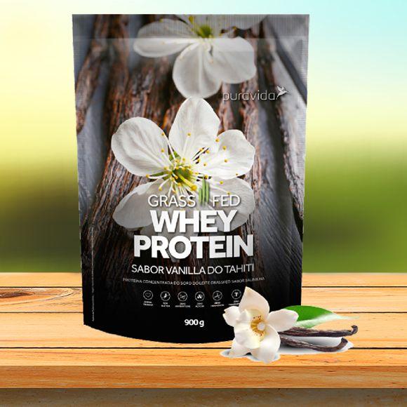 Whey Protein Grassfed - sabor Vanilla do Tahiti