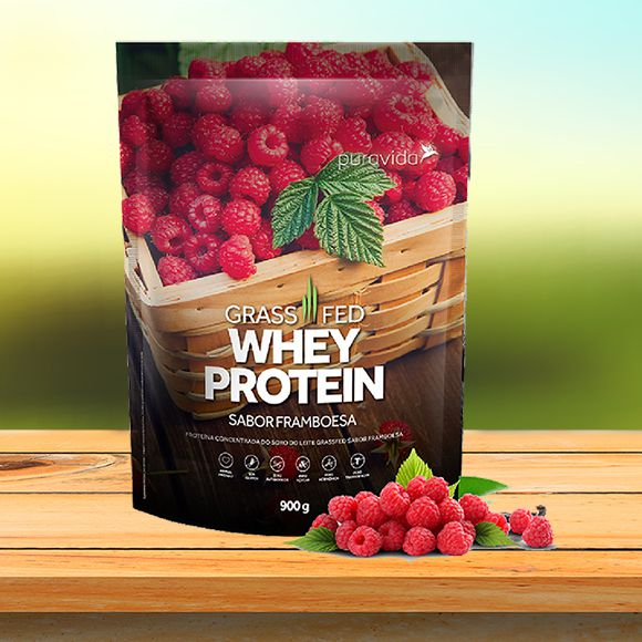 Whey Protein Grassfed - sabor Framboesa
