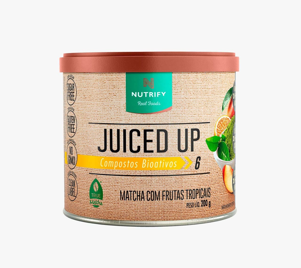 JUICED UP MATCHA E FRUTAS TROPICAIS - 200G - NUTRIFY