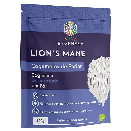 LION'S MANE - COGUMELO PARA O CÉREBRO VIVA REGENERA 100G