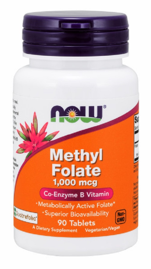 METILFOLATO (Vitamina Complexo B) - 1000 mcg - 90 tabletes Now
