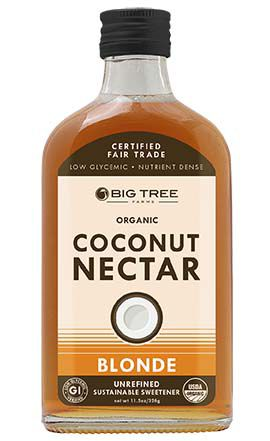 Adoçante liquido Natural - Néctar de Coco Blonde Big Tree Farms USDA Organic 326g