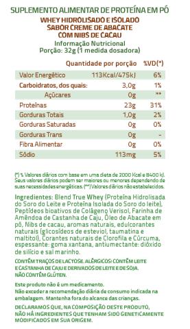 PROTEINA TRUE WHEY CREME DE ABACATE COM NIBS DE CACAU  - 418G