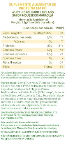 Proteina True Whey Mousse De Maracuja - 418g