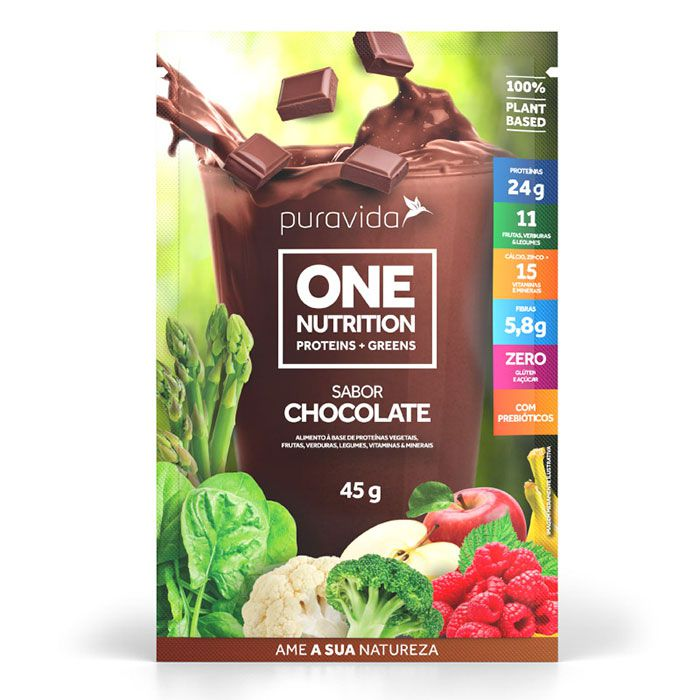PROTEÍNA VEGANA ONE NUTRITION CHOCOLATE  SACHE 45G
