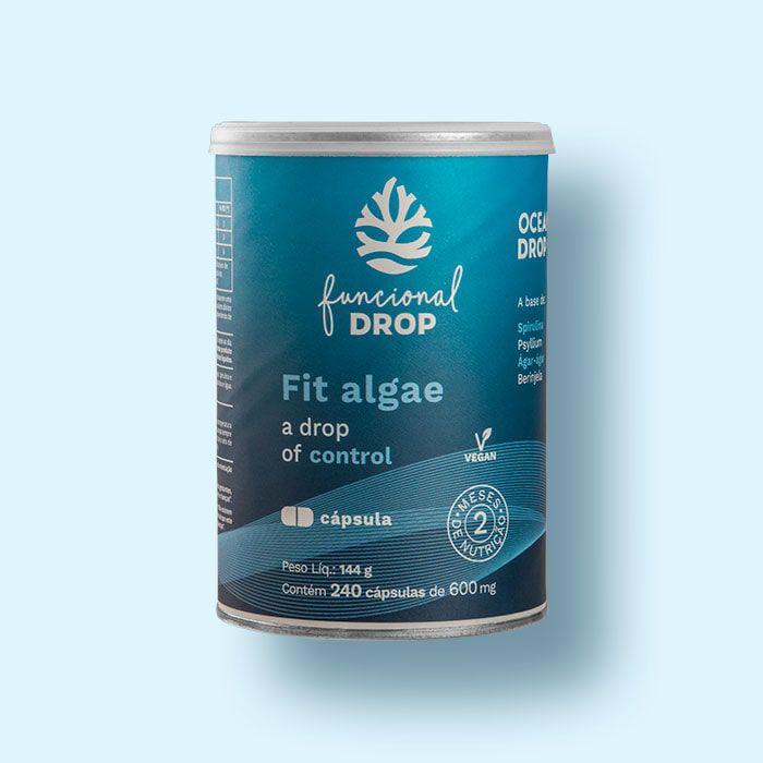 Super Fit Algae - Blend Funcional  SPIRULINA + PSYLLIUM + AGAR-AGAR+ BERINGELA  (240 CAPS)