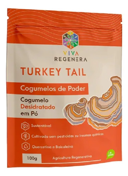 TURKEY TAIL COGUMELOS DE PODER VIVA REGENERA 100 G