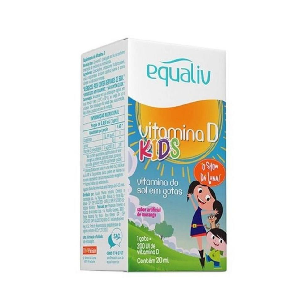 Vitamina D Kids 200ui Sabor Morango Equaliv 20ml