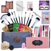Kit de Maquiagem Completo 34 Itens - Luisance e Macrilan C/ Brindes