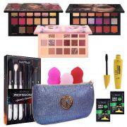 Kit de Maquiagem Profissional C/ 19 Itens  + Brinde Huda Beauty
