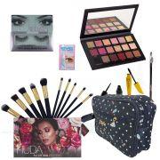 Kit Maquiagem Completo Para Olhos - Huda Beauty Rose Gold + BRINDE