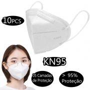 Máscara Descartável Cirúrgica KN-95 5 Camadas C/ 10.