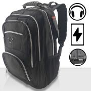 Mochila Bolsa grande reforçada  impermeável Notebook Saida USB e Fone de ouvido